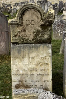 Grabstein Chana Frau David Mitzker, 23. Elul 634