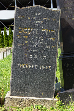 Grabstein Hess Therese - 13. Oktober 1928
