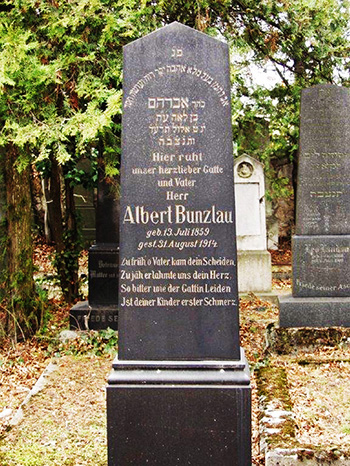 Grabstein Albert Bunzlau