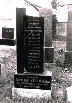 Grabstein Szemere Anna - 23. April 1916