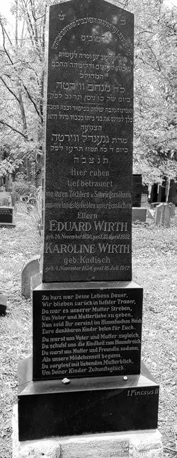 Grabstein Wirth Eduard / Karoline - 23. April 1892 / 18. Juli 1917