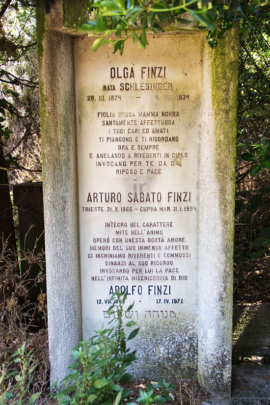 Finzi Olga / Arturo Sabato / Adolfo - 04. August 1934 / 31. Jänner 1954 / 17. April 1972