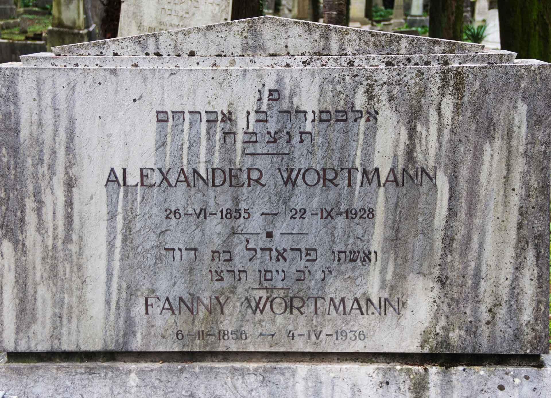 Alexander Wortmann, 22. September 1928, und Fanny (Fradel) Wortmann, 04. April 1936