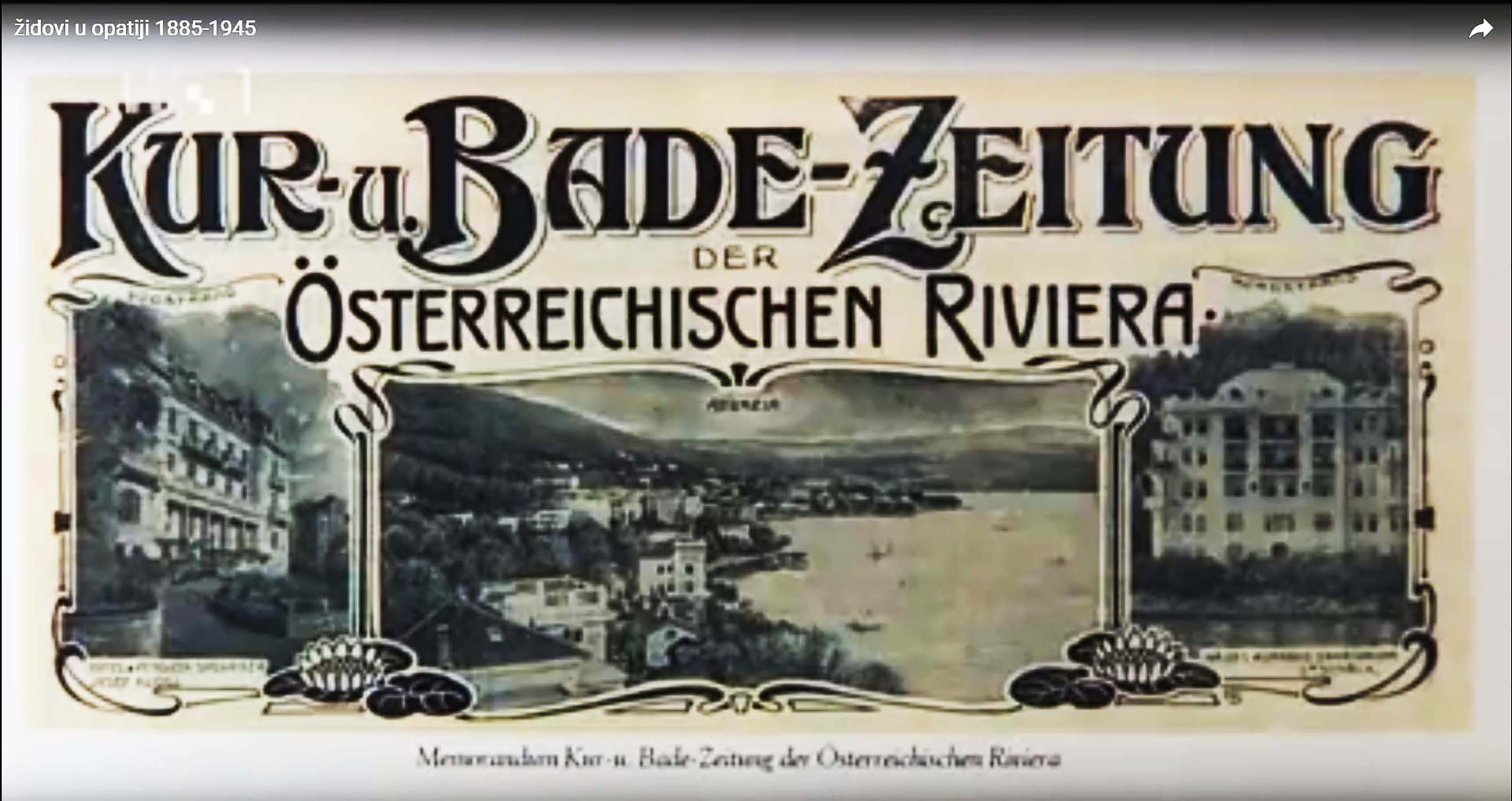 Kur-und Badezeitung der öst. Riviera, Screenshot YouTube-Video