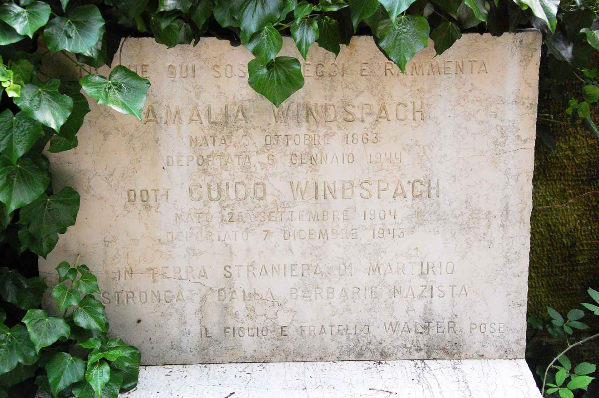 Amalia Windspach und Dr. Guido Windspach, Schoa-Opfer