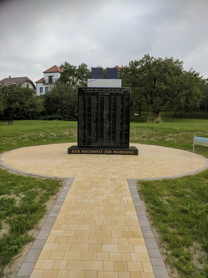Holocaust-Denkmal in Kobersdorf, https://www.facebook.com/events/1888112824772230/