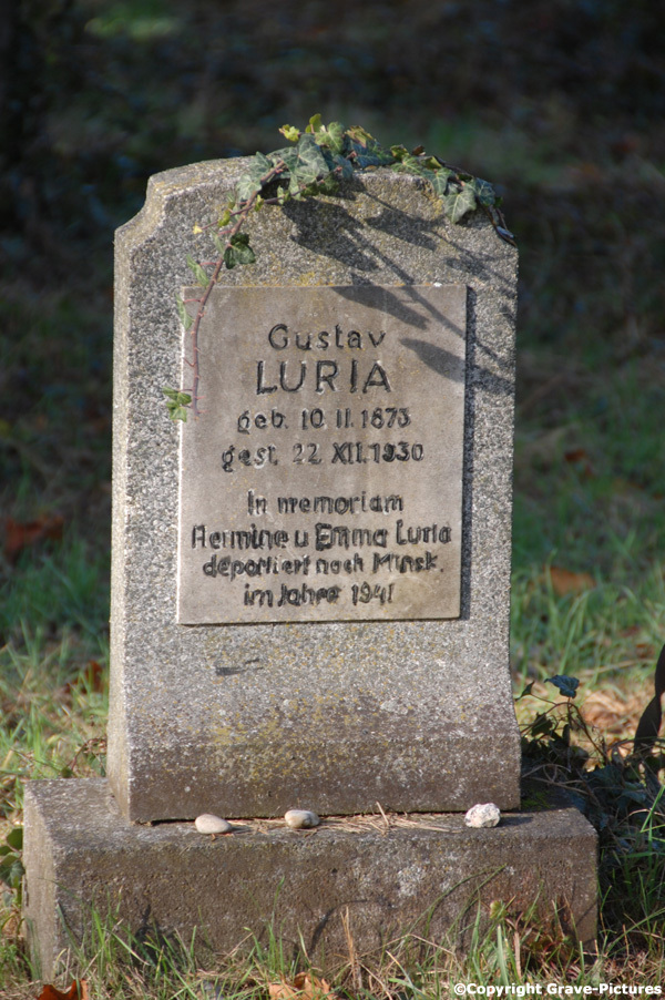 Gravestone Gustav (Gerson) Luria, died 22 December 1930, buried on Zentralfriedhof Vienna